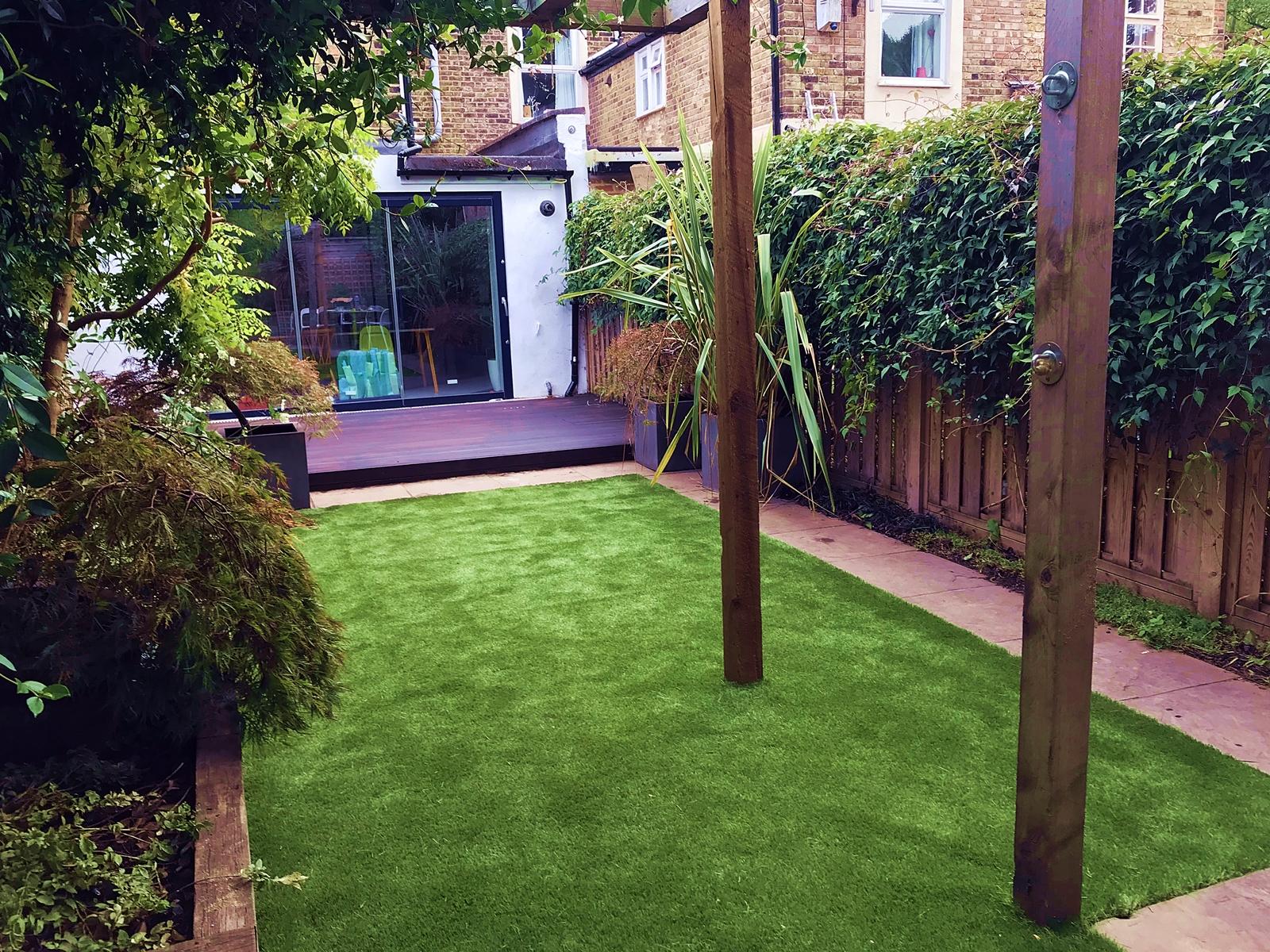 Astro Turf Garden >> Sunken Garden Trampoline With Walk on Lid Cover - London Garden Blog